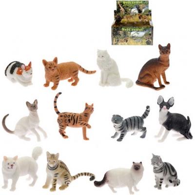 Kočka domácí / divoká 5-7cm figurka plastová 12 druhů