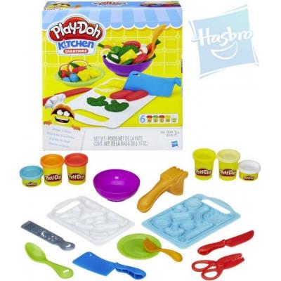 HASBRO PLAY-DOH Kreativní set prkýnka + kuchyňské náčiní modelína 6 kelímků