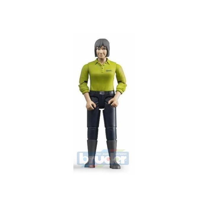 BRUDER 60405 Figurka žena tmavé kalhoty, zelená košile
