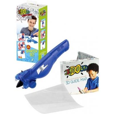 IDO3D Vertikal magické pero modré 5 projektů 3D kreslení tuhne pod UV světlem