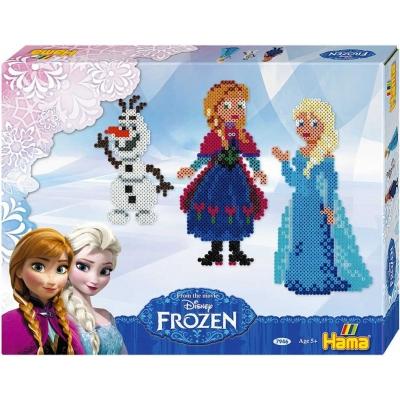 Korálky zažehlovací Frozen (Ledové Království) set 4000ks + 2 podložky s doplňky v krabici