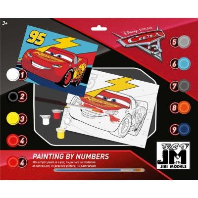 JIRI MODELS Malování podle čísel A3 Auta (Cars) set s barvičkami