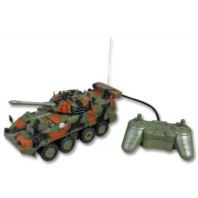 RC Transporter vojenský tank na dálkové ovládání 27MHz na kabel na baterie 2 barvy