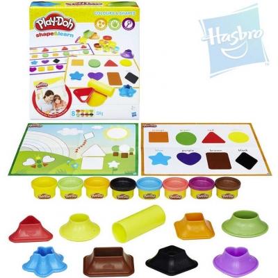 HASBRO PLAY-DOH Barvy & tvary kreativní set modelína 8 kelímků s doplňky