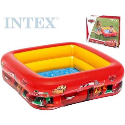 INTEX Bazén 85x85cm nafukovací čtvercový CARS (Auta)