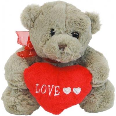 PLYŠ Medvídek se srdíčkem Love 20cm s mašličkou *PLYŠOVÉ HRAČKY*