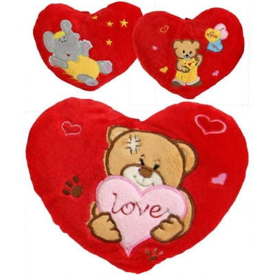 PLYŠ Srdíčko se zvířátkem 25cm Love s poutkem 3 druhy *PLYŠOVÉ HRAČKY*