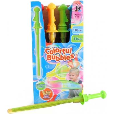 Bublifuk meč 43cm velké bubliny dětský bublifukovač 100ml 4 barvy