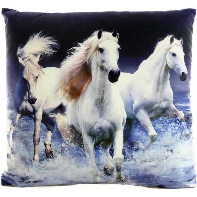 Polštářek zvířátko 33x33cm realistický fotopotisk koně