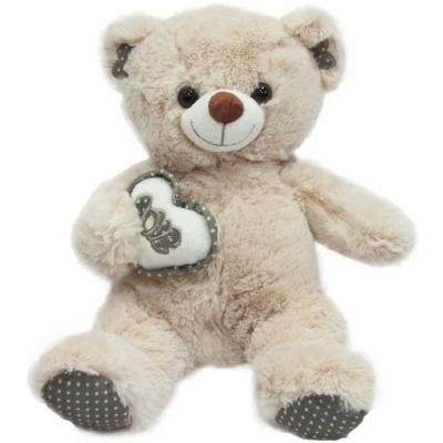 PLYŠ Medvědice se srdcem VALENTÝN 20cm *PLYŠOVÉ HRAČKY*