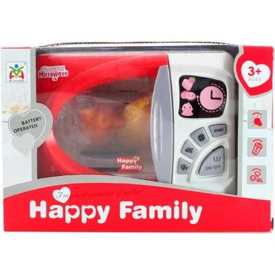 Mikrovlnná trouba dětská 18cm set s potravinami na baterie Světlo Zvuk plast
