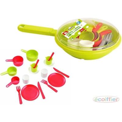 ECOIFFIER Dětská sada nádobí set kuchyňský pánev s doplňky PLAST