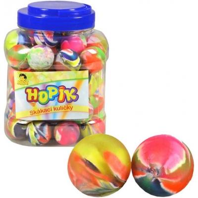 Hopík duhový skákací míček 3cm hopskulička různé druhy plast