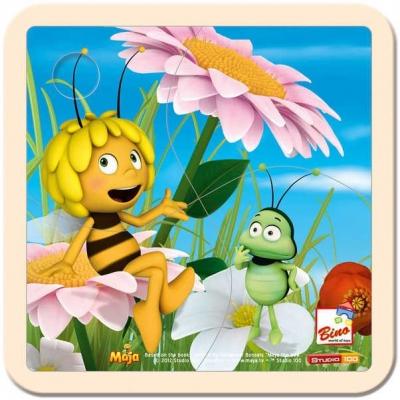 BINO DŘEVO Puzzle dětské Včelka Mája 1 * DŘEVĚNÉ HRAČKY *