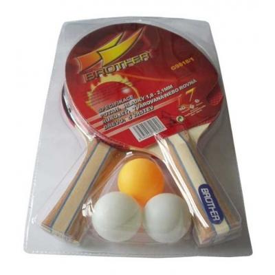ACRA Sada na stolní tenis (ping pong) 2 pálky + 3 míčky Brother G9818/1