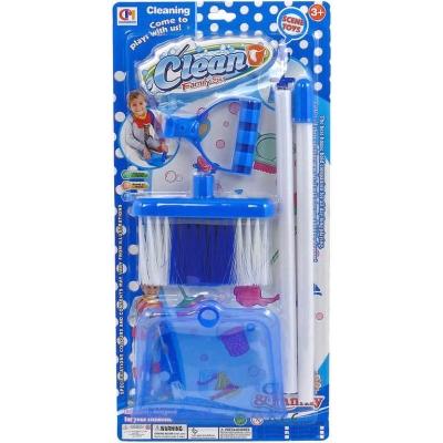 Malá uklízečka dětský set smetáček + lopatka na kartě plast