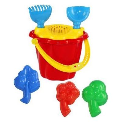 PL Kyblík vroubkovaný na písek dětský set s formičkami a nástroji mix barev