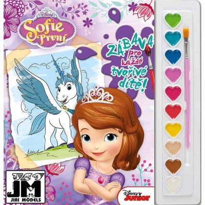 JIRI MODELS Omalovánky A4 set s barvami Disney Sofie První