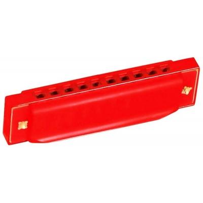 BINO Harmonika foukací červená MALÝ HUDEBNÍK