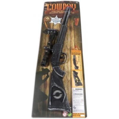 Souprava kovbojská set puška 50cm s náboji a hvězdou šerifa na kartě
