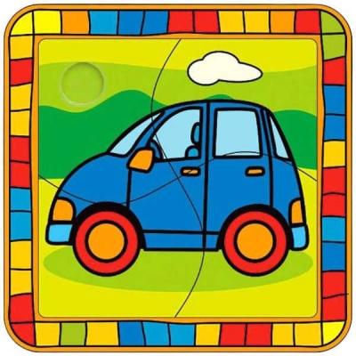 BINO DŘEVO Puzzle AUTO *DŘEVĚNÉ HRAČKY*