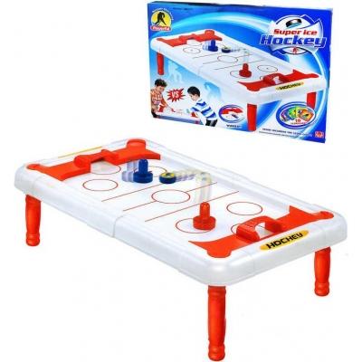 Hra vzdušný hokej stolní Air Hockey v krabici plast SPOLEČENSKÉ HRY