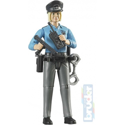 BRUDER 60430 Figurka policistka 11cm set s doplňky plast