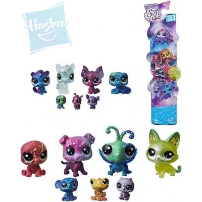 HASBRO LPS Zvířátko Littlest Pet Shop s hvězdičkami kosmické set 7ks plast