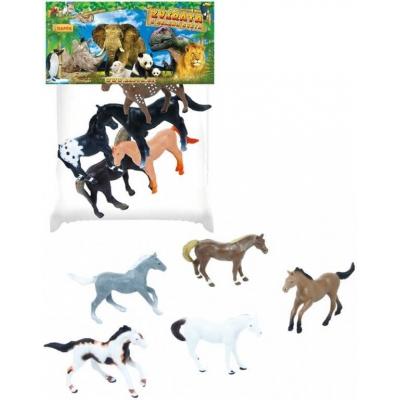 Koně set 5ks plastové figurky zvířátka v sáčku 2 druhy