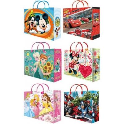 Taška dětská dárková 32x39cm Disney motivy 6 druhů plast