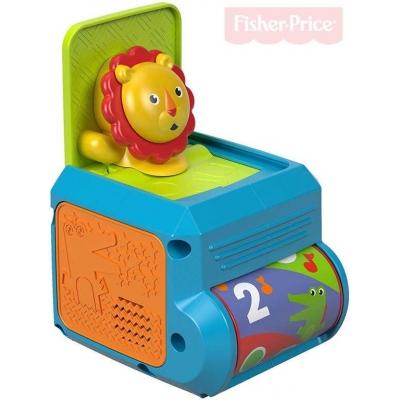 FISHER PRICE Baby krabička s překvapením lvíček pro miminko plast