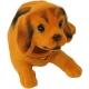 Pes s kývací hlavou ležící 15cm dekorace plast 3 barvy