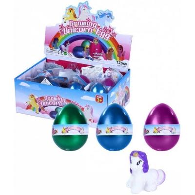 Jednorožec koník líhnoucí a rostoucí ve vejci 6cm 3 barvy