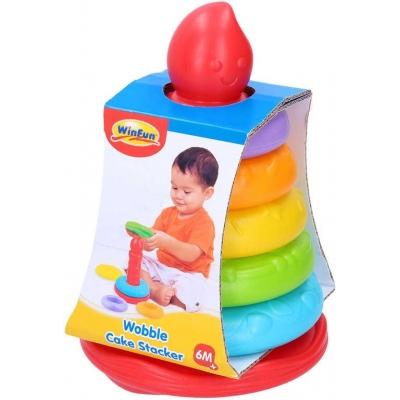 Baby věžička skládací kroužky 20cm pyramida pro miminko