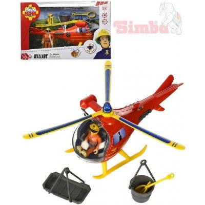 SIMBA Požárník Sam funkční vrtulník + figurka s doplňky na baterie Světlo Zvuk