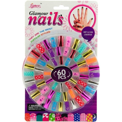 Dívčí sada krásy nehty nalepovací set 60ks na kartě