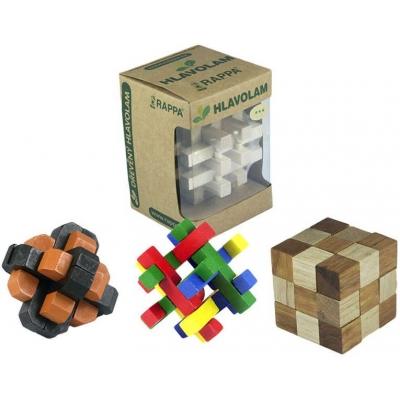 DŘEVO Hlavolam dřevěný 12 druhů Dárkové balení