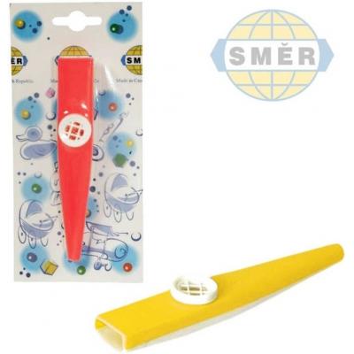 SMĚR KAZOO plastový foukací hudební nástroj 12cm 3 barvy