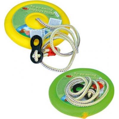 Houpačka Jojo kruh na zavěšení 27cm kulatá nosnost 50kg 3 barvy plast