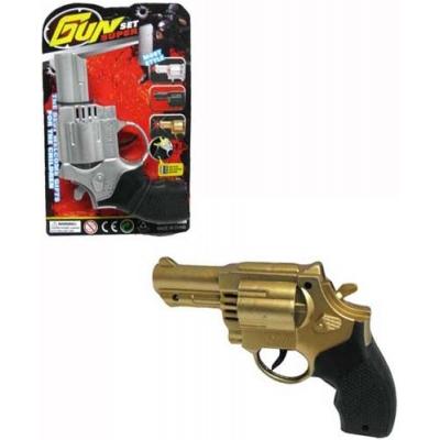 Pistolka dětský revolver 2 barvy kolt na kartě plast
