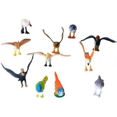 Ptáci různé druhy set 12ks plastové figurky v sáčku