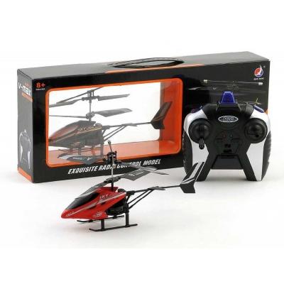 RC Vrtulník červený na dálkové ovládání na baterie v krabici plast