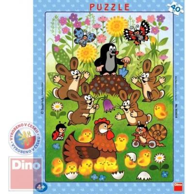 DINO Puzzle deskové KRTEK a velikonoce Krteček 40 dílků
