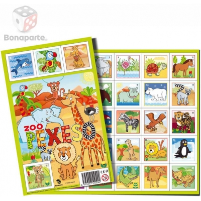 BONAPARTE Pexeso ZOO zvířátka 32 dvojic ilustrace *SPOLEČENSKÉ HRY*