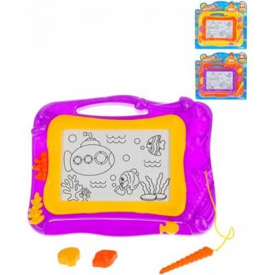 Tabulka dětská kreslicí magnetická set s razítky a kouzelným perem 3 barvy