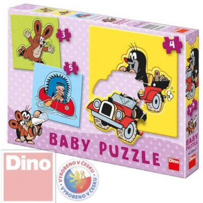 DINO Puzzle BABY Krteček 12 dílků