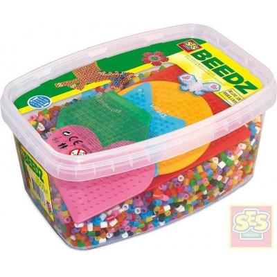 SES CREATIVE Korálky zažehlovací set 7000ks + 5 podložek v boxu plast