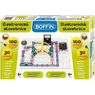 Boffin 100 elektronická stavebnice 100 projektů na baterie 30ks v krabici