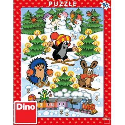 DINO Puzzle 40 dílků Krtek na sněhu (Krteček) 24x32cm