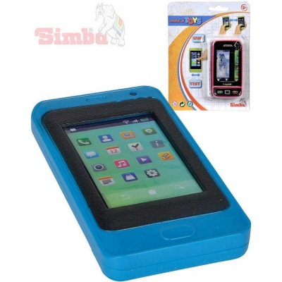 SIMBA Telefon dětský mobilní smartphone 10cm na baterie Světlo Zvuk 2 druhy